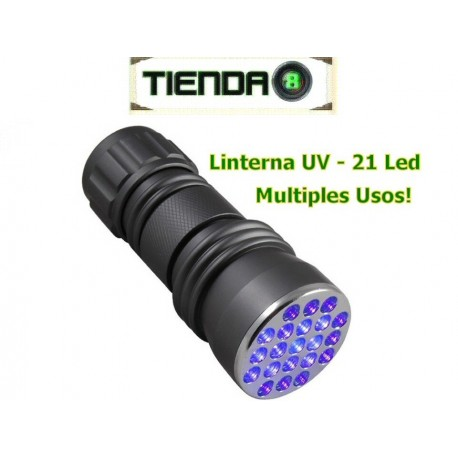 Linterna Ultravioleta De 21 Led UV - ¡Múltiples Usos!