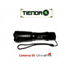 Linterna con Zoom UltraFire E6, 800 Lúmenes